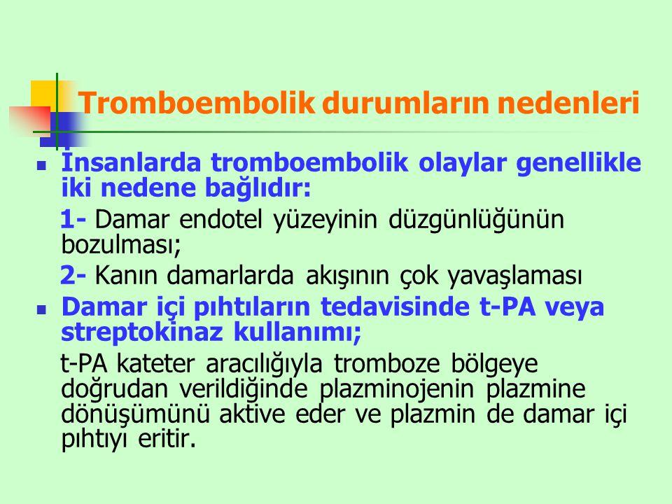 Tromboembolik durumların nedenleri