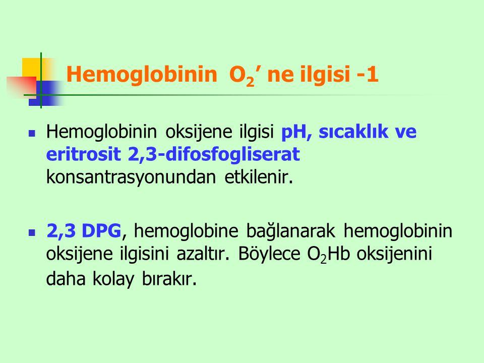 Hemoglobinin O2' ne ilgisi -1