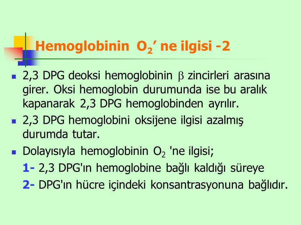 Hemoglobinin O2' ne ilgisi -2