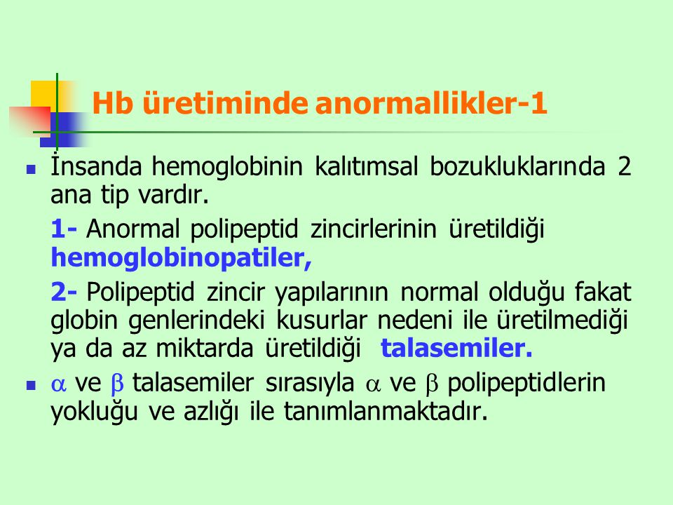 Hb üretiminde anormallikler-1