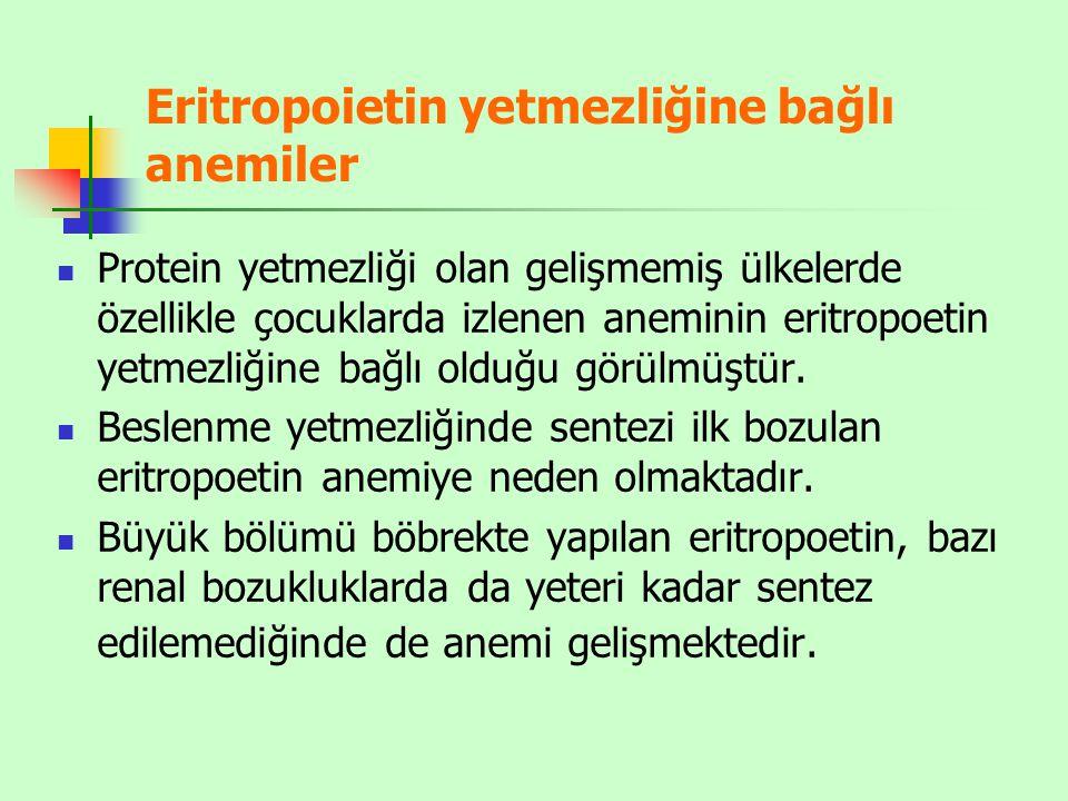 Eritropoietin yetmezliğine bağlı anemiler