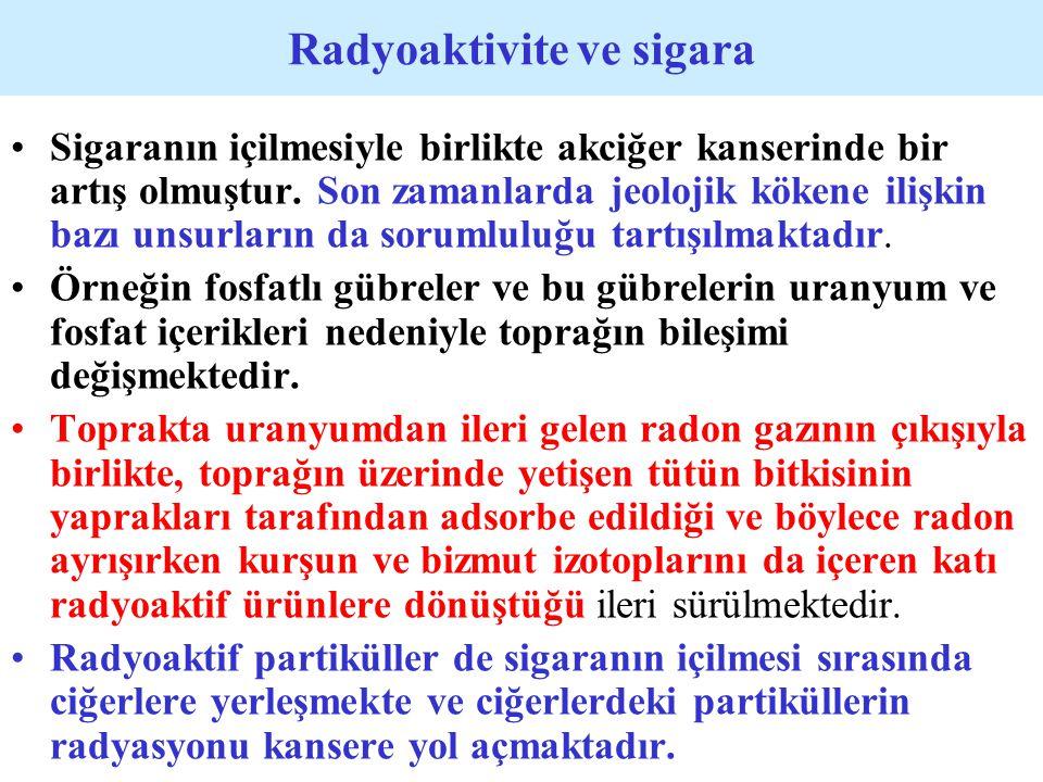 Radyoaktivite ve sigara
