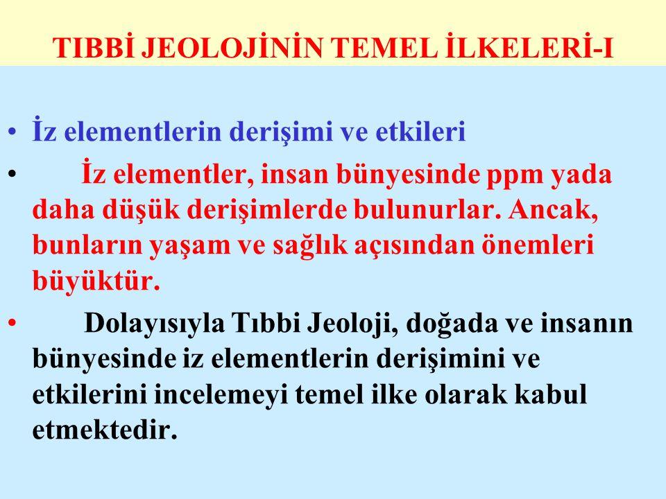TIBBİ JEOLOJİNİN TEMEL İLKELERİ-I