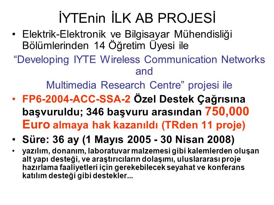 İYTEnin İLK AB PROJESİ Elektrik-Elektronik ve Bilgisayar Mühendisliği Bölümlerinden 14 Öğretim Üyesi ile.