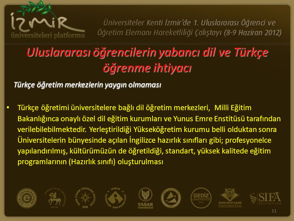Uluslararası öğrencilerin yabancı dil ve Türkçe öğrenme ihtiyacı