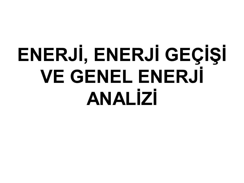 ENERJİ, ENERJİ GEÇİŞİ VE GENEL ENERJİ ANALİZİ