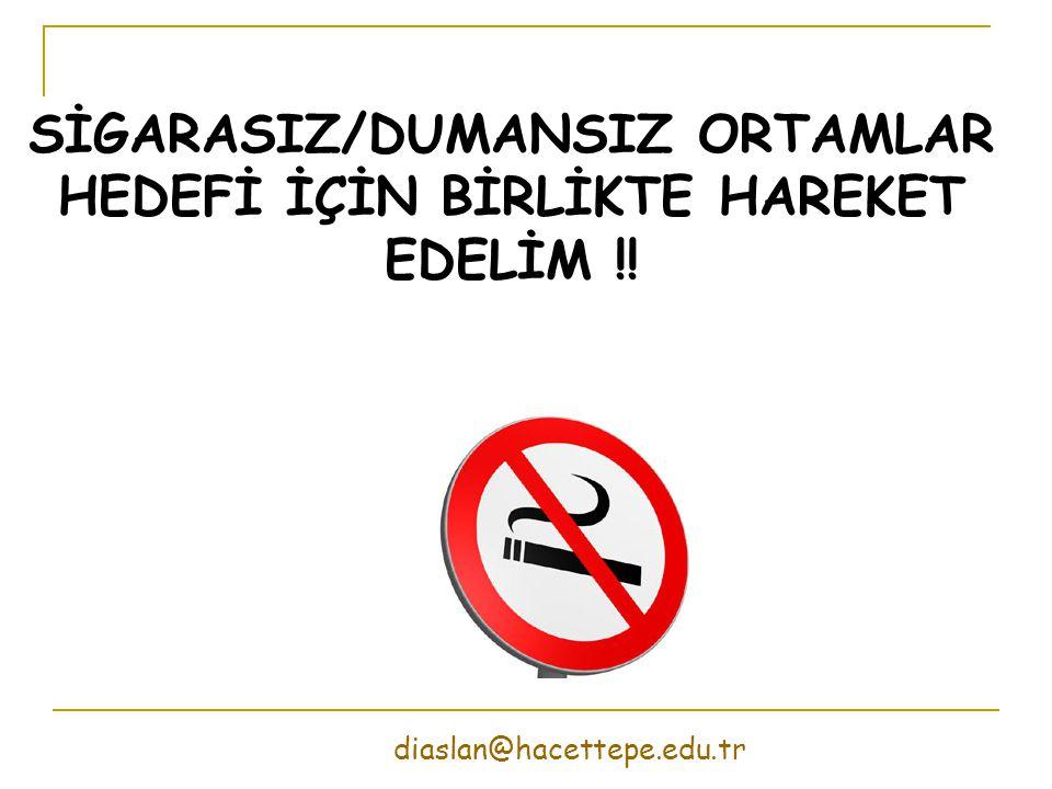 SİGARASIZ/DUMANSIZ ORTAMLAR HEDEFİ İÇİN BİRLİKTE HAREKET EDELİM !!