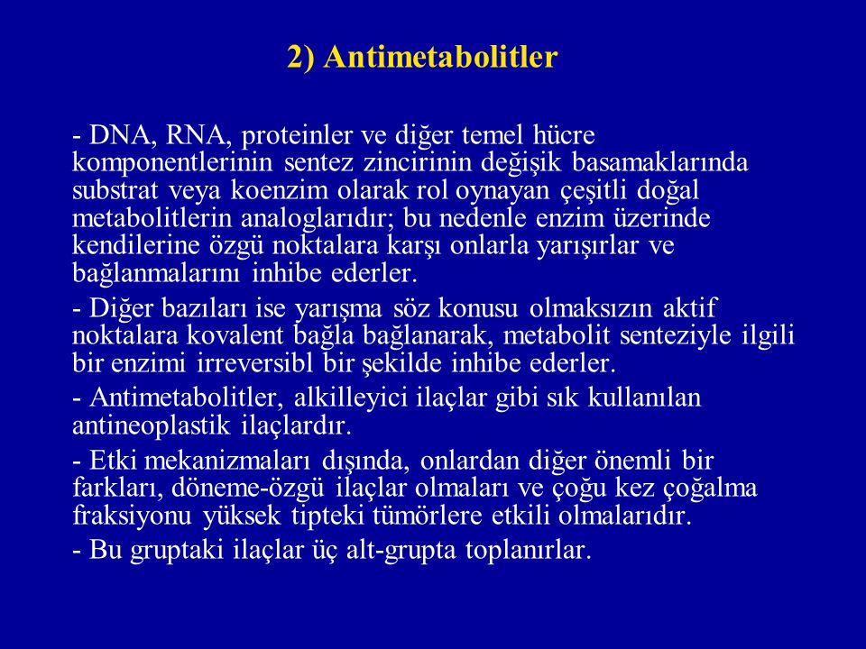 2) Antimetabolitler