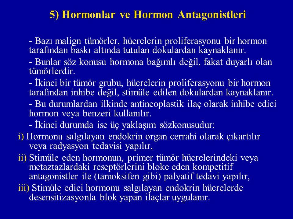 5) Hormonlar ve Hormon Antagonistleri