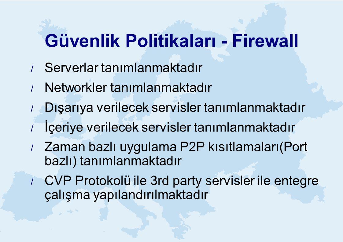 Güvenlik Politikaları - Firewall