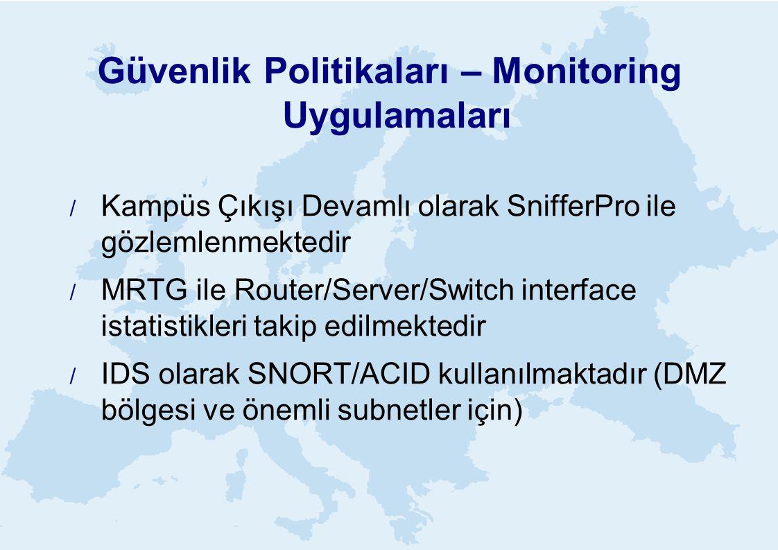 Güvenlik Politikaları – Monitoring Uygulamaları