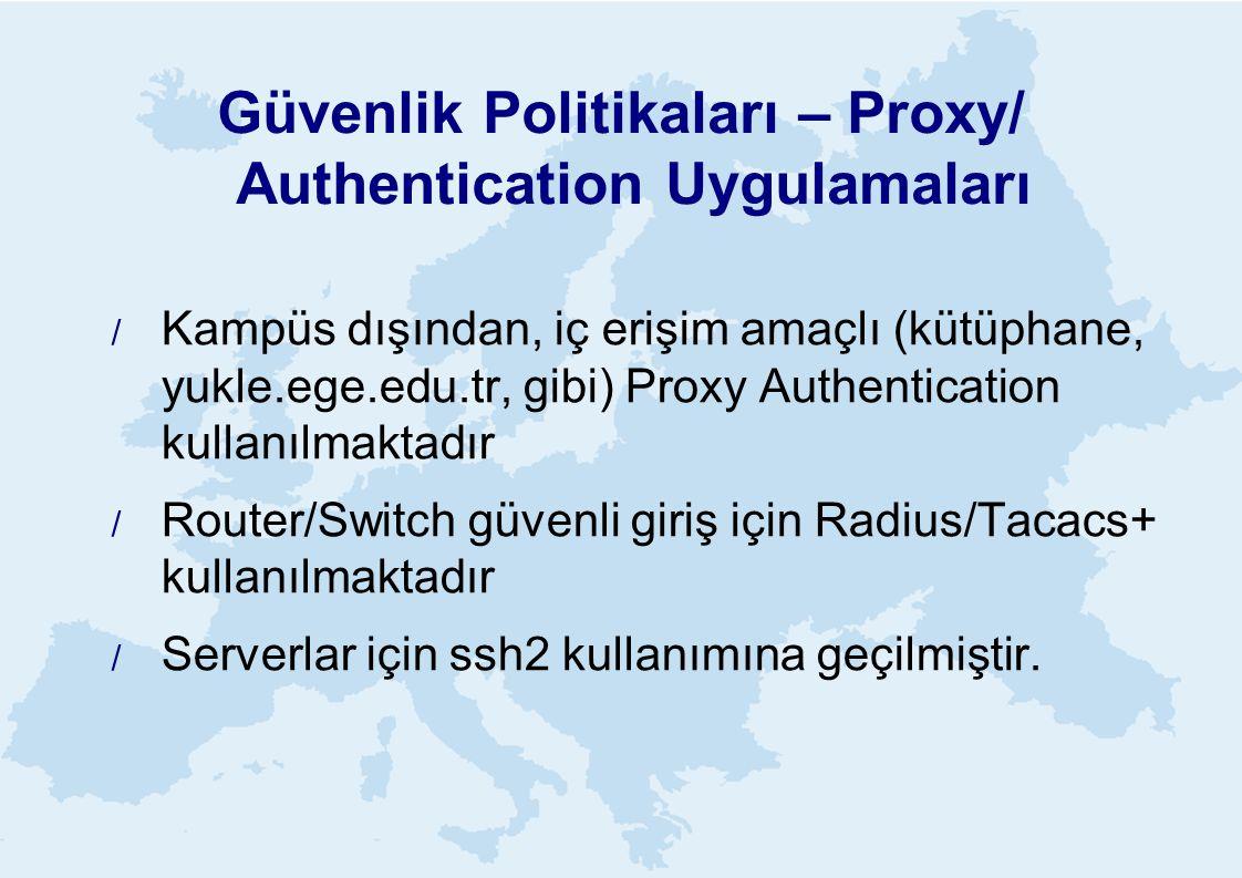 Güvenlik Politikaları – Proxy/ Authentication Uygulamaları