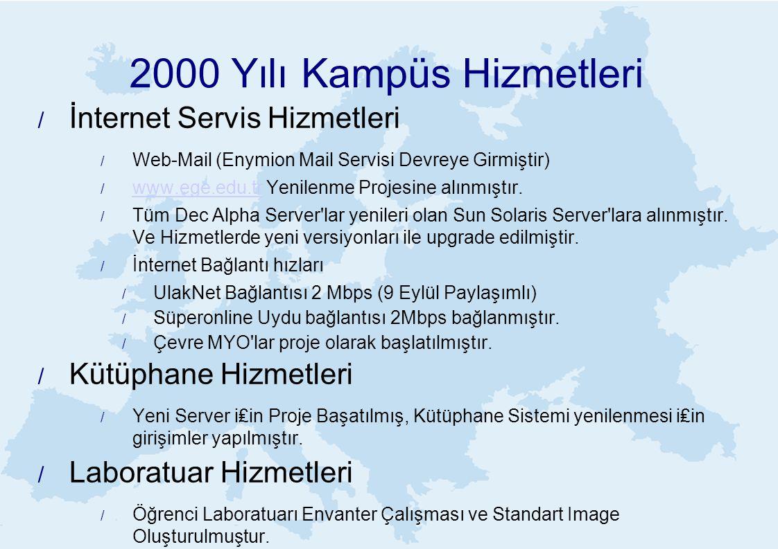 2000 Yılı Kampüs Hizmetleri
