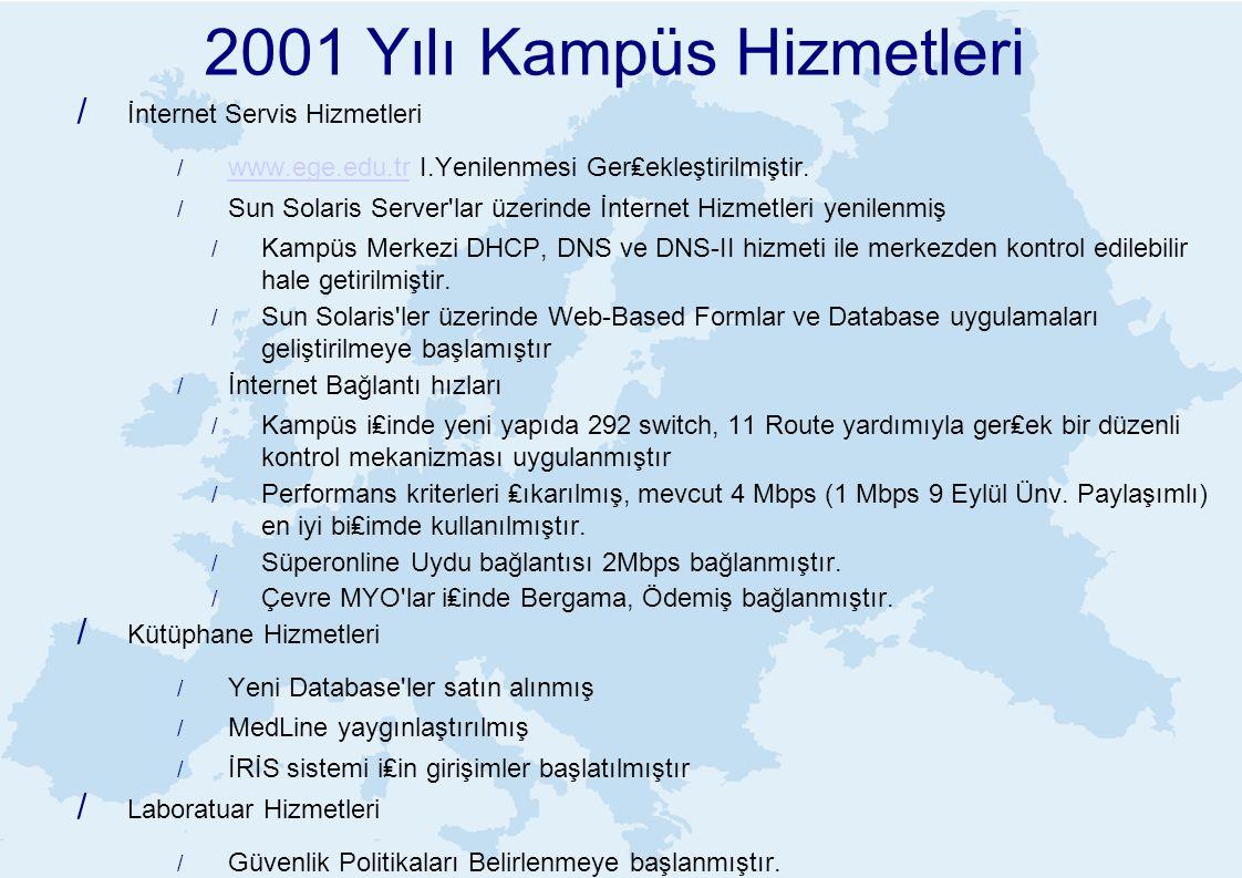 2001 Yılı Kampüs Hizmetleri