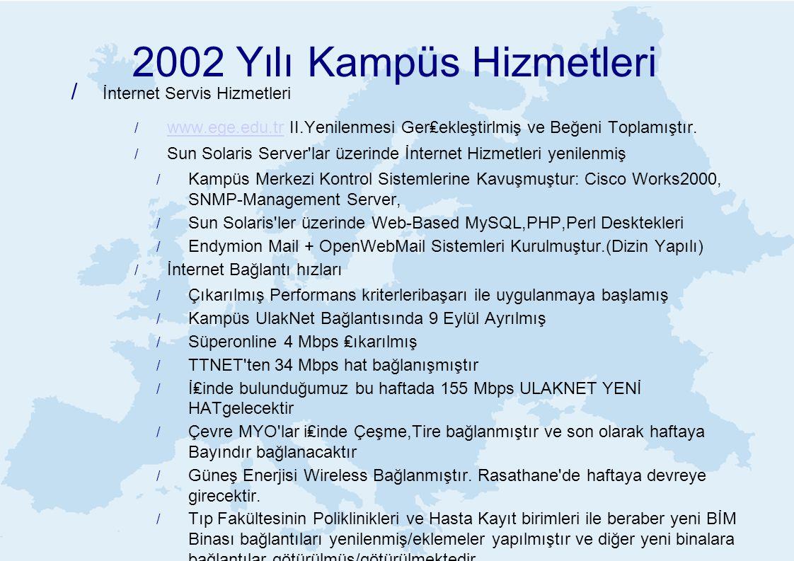 2002 Yılı Kampüs Hizmetleri