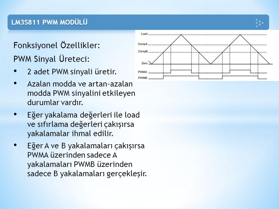 Fonksiyonel Özellikler: PWM Sinyal Üreteci: