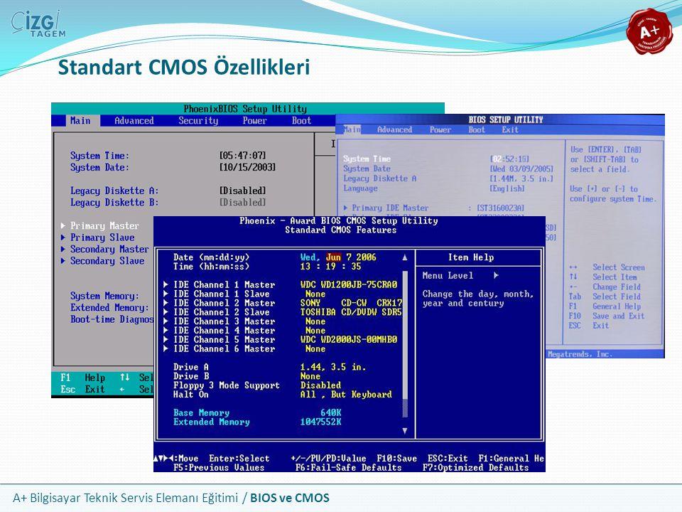 Standart CMOS Özellikleri