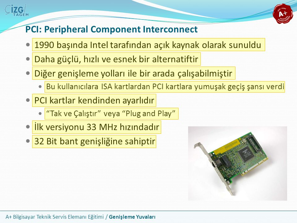 PCI: Peripheral Component Interconnect