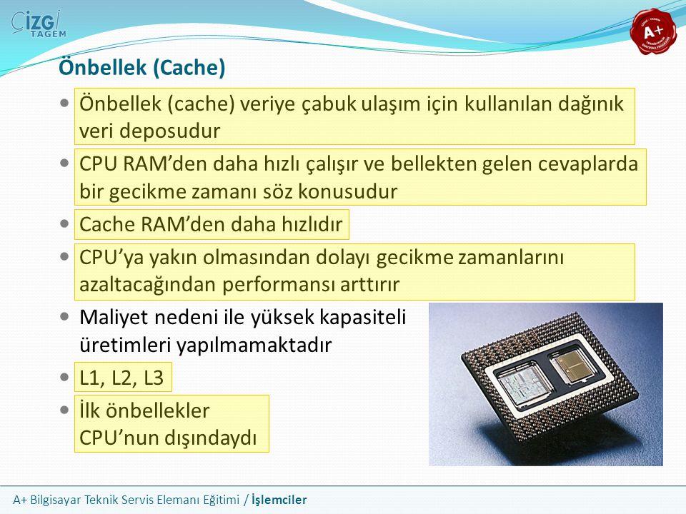 Önbellek (Cache) Önbellek (cache) veriye çabuk ulaşım için kullanılan dağınık veri deposudur.