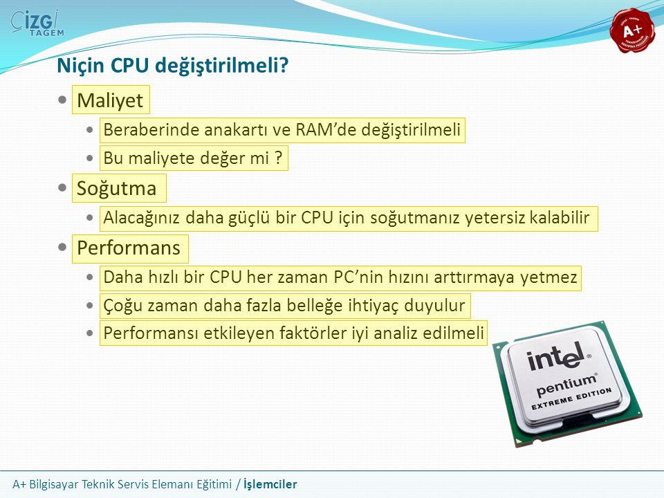 Niçin CPU değiştirilmeli