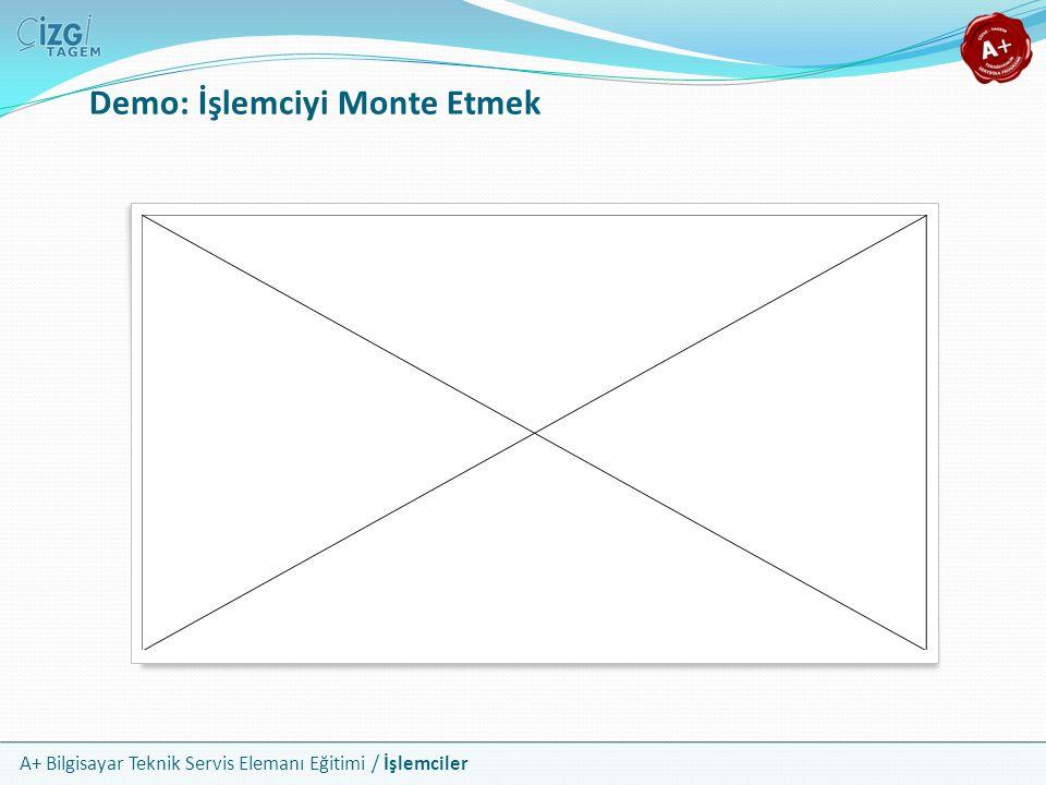 Demo: İşlemciyi Monte Etmek