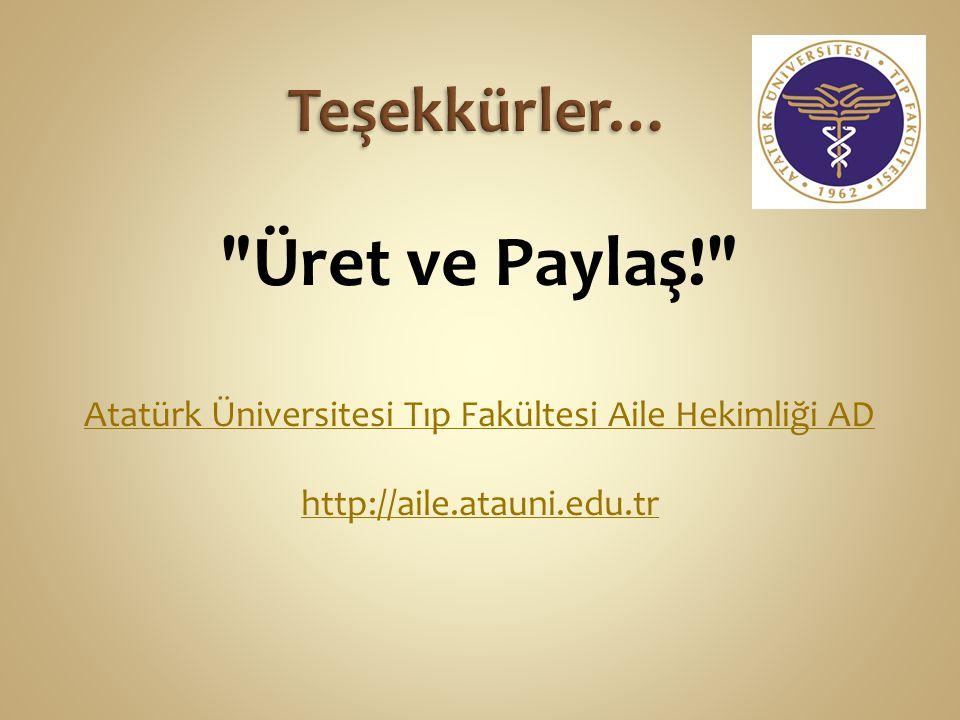 Atatürk Üniversitesi Tıp Fakültesi Aile Hekimliği AD