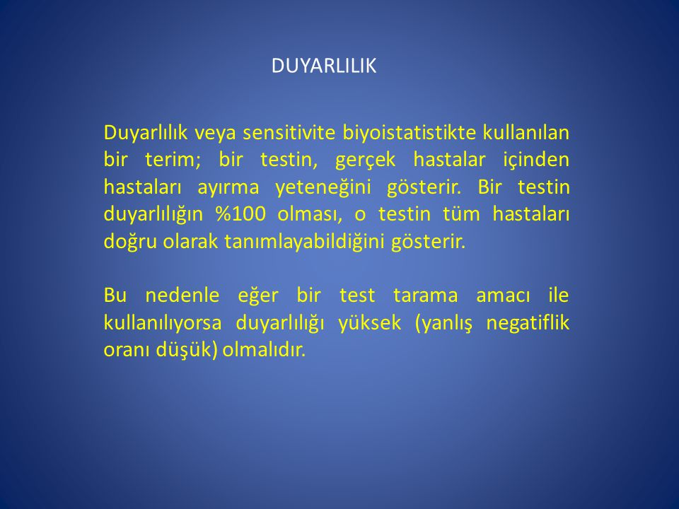 DUYARLILIK