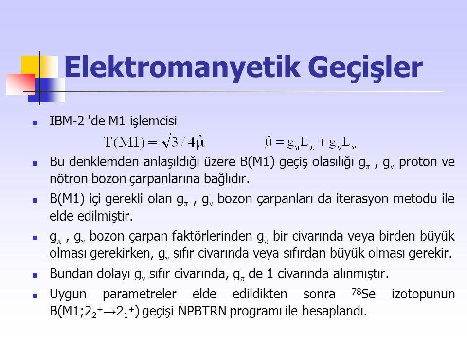 Elektromanyetik Geçişler