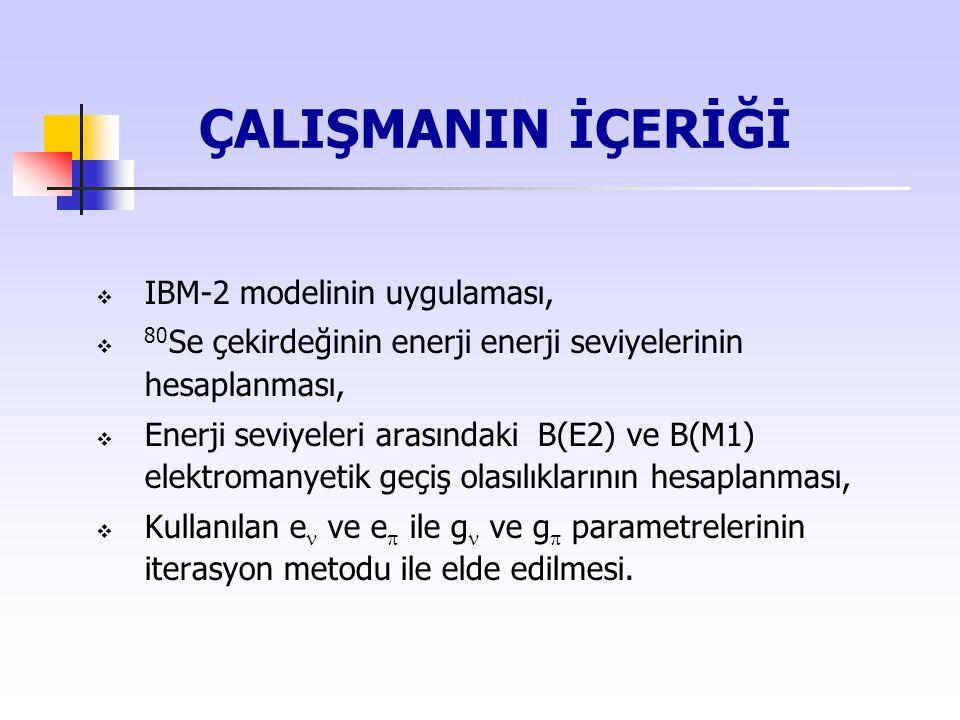 ÇALIŞMANIN İÇERİĞİ IBM-2 modelinin uygulaması,