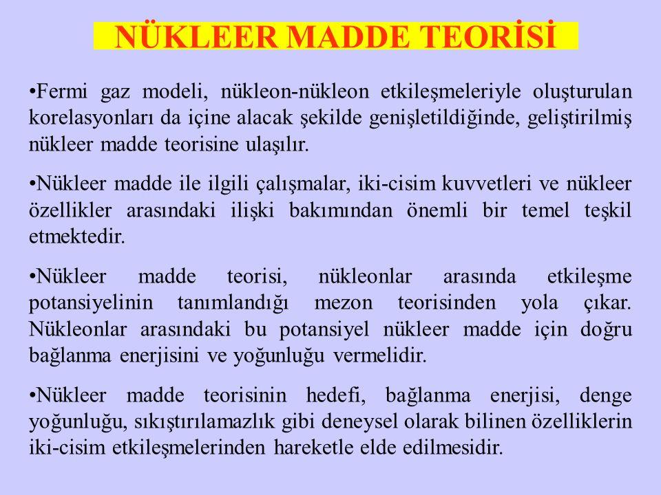 NÜKLEER MADDE TEORİSİ