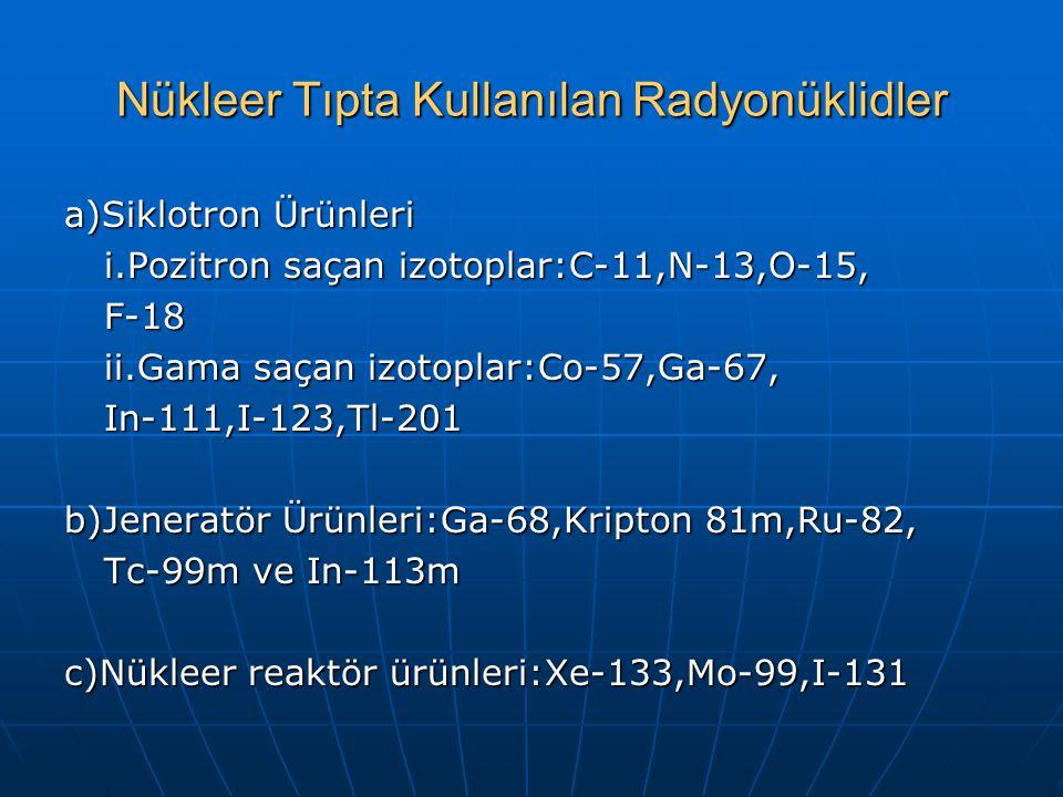 Nükleer Tıpta Kullanılan Radyonüklidler