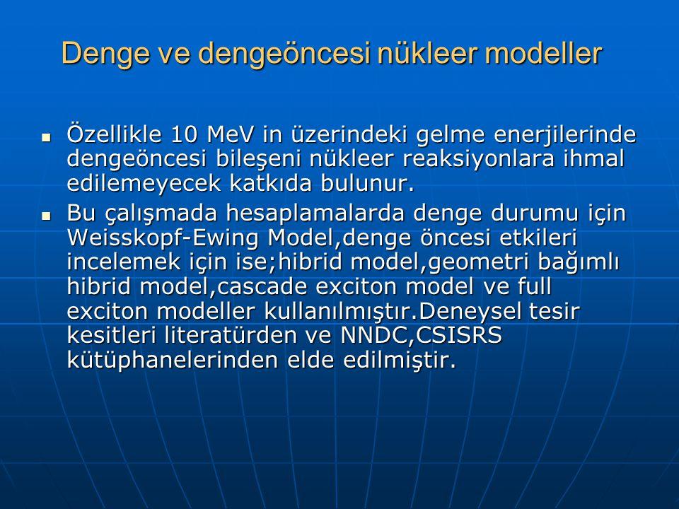 Denge ve dengeöncesi nükleer modeller