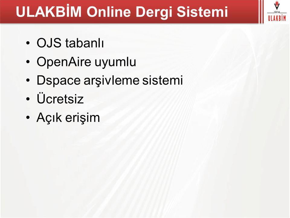 ULAKBİM Online Dergi Sistemi