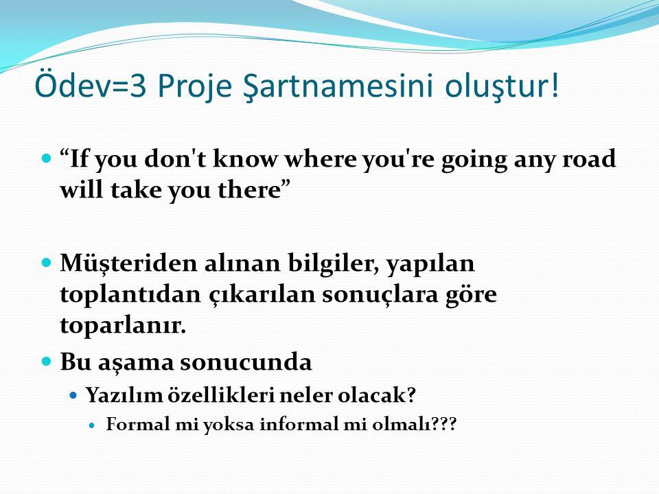 Ödev=3 Proje Şartnamesini oluştur!