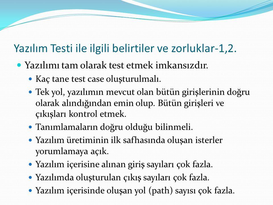 Yazılım Testi ile ilgili belirtiler ve zorluklar-1,2.