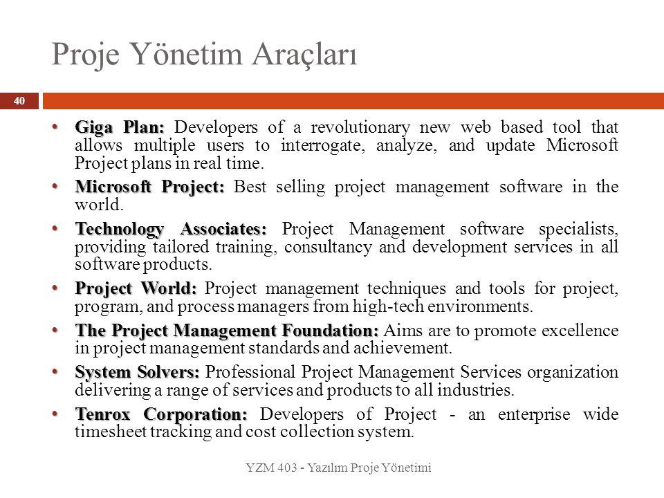Proje Yönetim Araçları