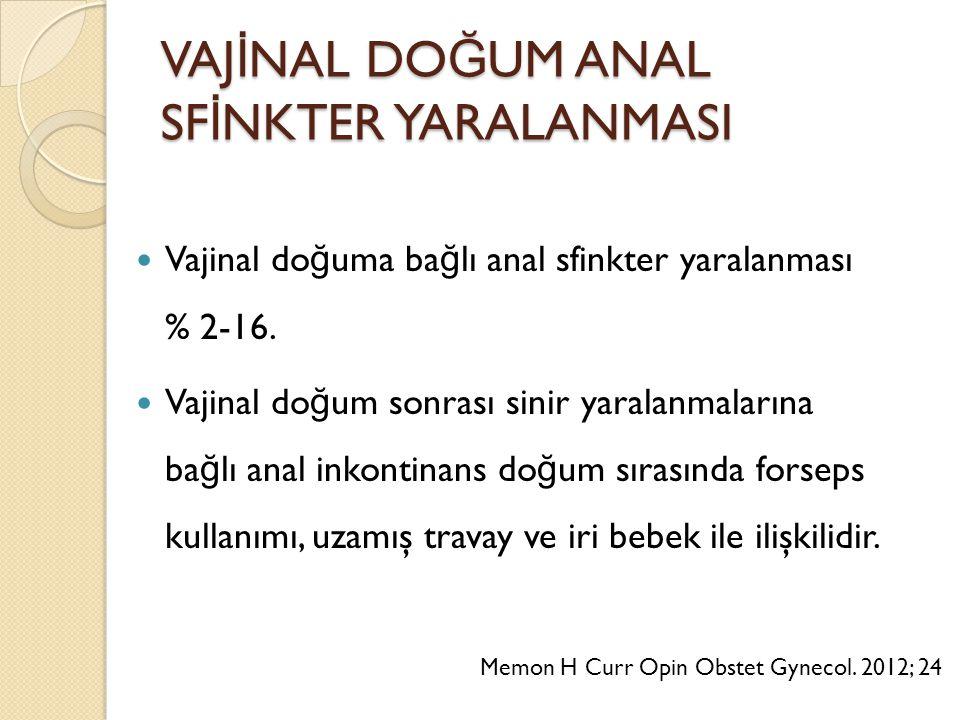 VAJİNAL DOĞUM ANAL SFİNKTER YARALANMASI