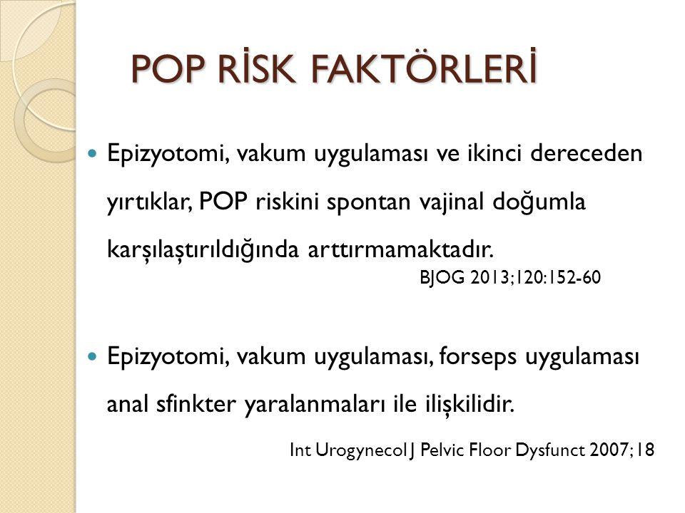 POP RİSK FAKTÖRLERİ