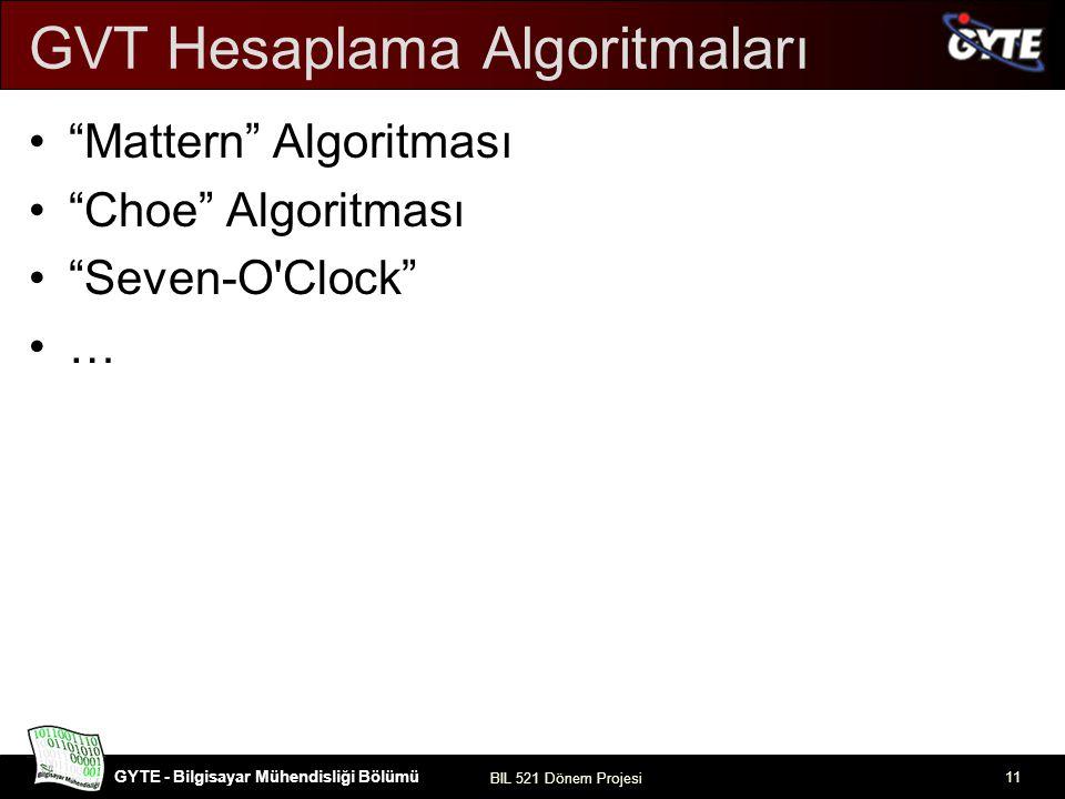 GVT Hesaplama Algoritmaları
