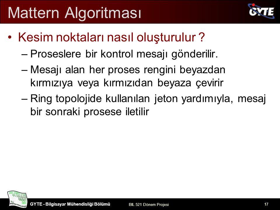 Mattern Algoritması Kesim noktaları nasıl oluşturulur
