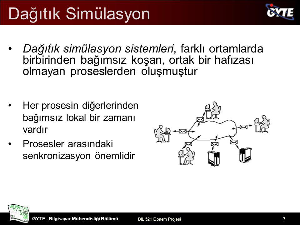 Dağıtık Simülasyon Dağıtık simülasyon sistemleri, farklı ortamlarda birbirinden bağımsız koşan, ortak bir hafızası olmayan proseslerden oluşmuştur.