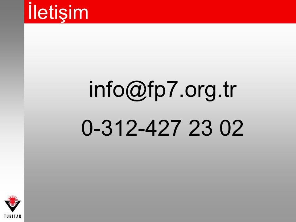 İletişim info@fp7.org.tr 0-312-427 23 02