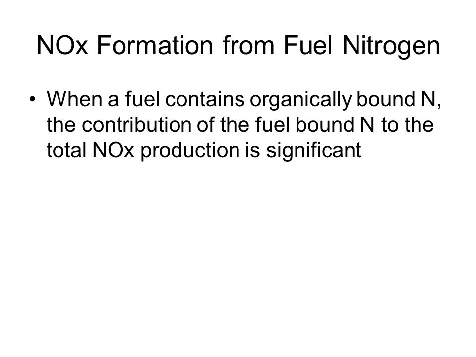 NOx Formation from Fuel Nitrogen