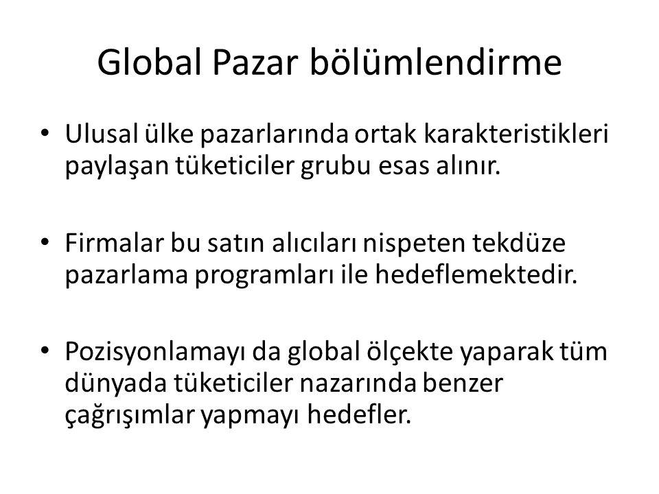 Global Pazar bölümlendirme