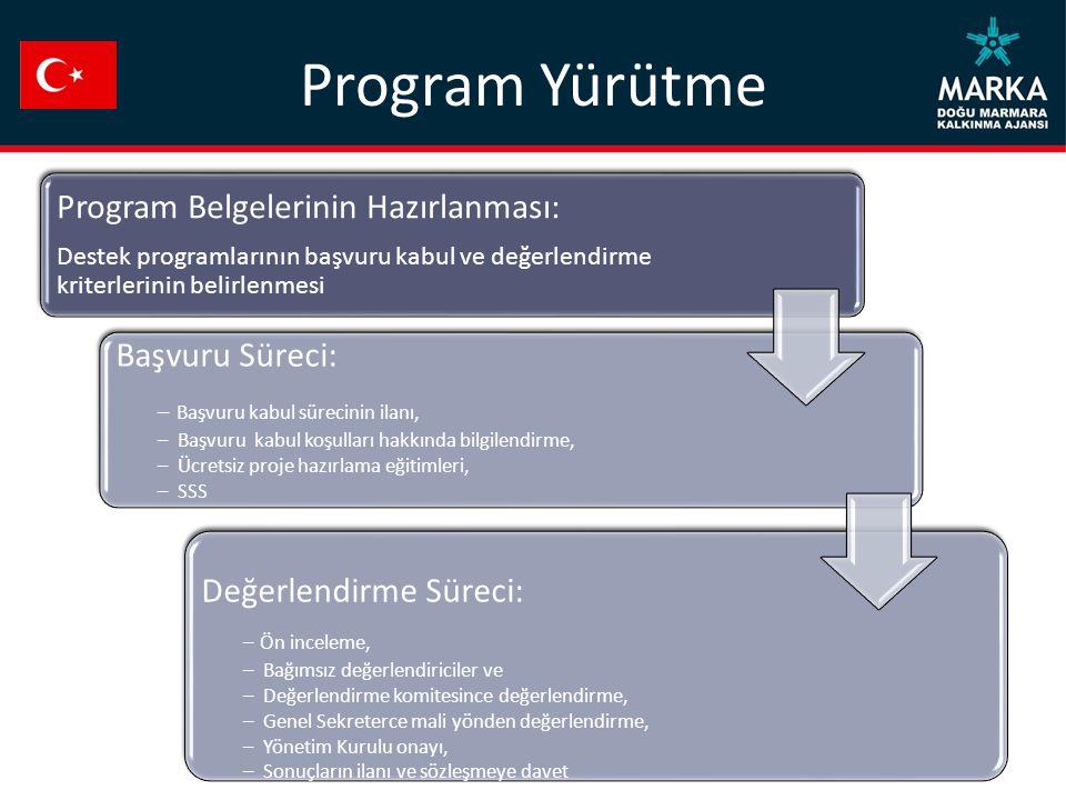 Program Yürütme Program Belgelerinin Hazırlanması: Başvuru Süreci: