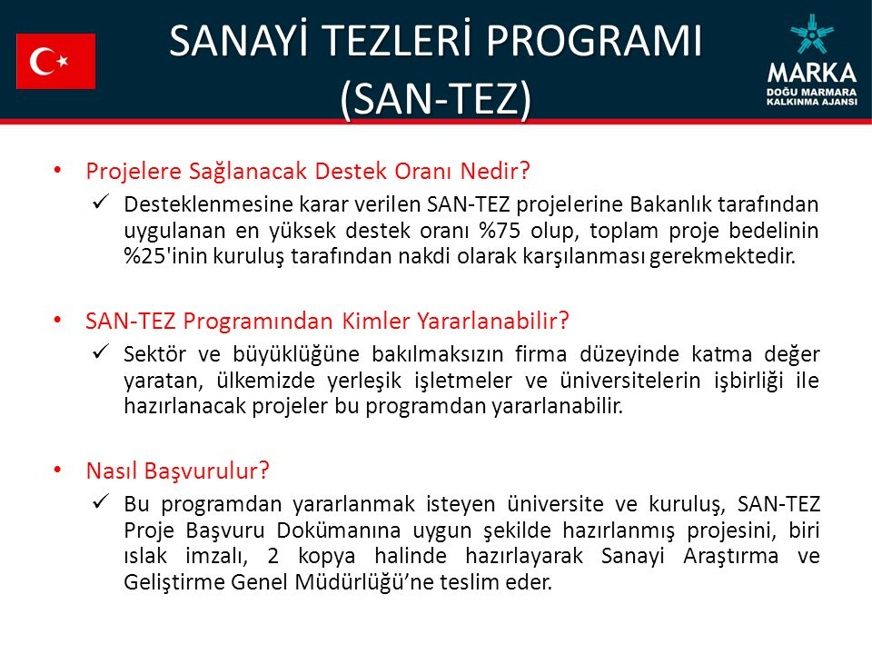 SANAYİ TEZLERİ PROGRAMI (SAN-TEZ)