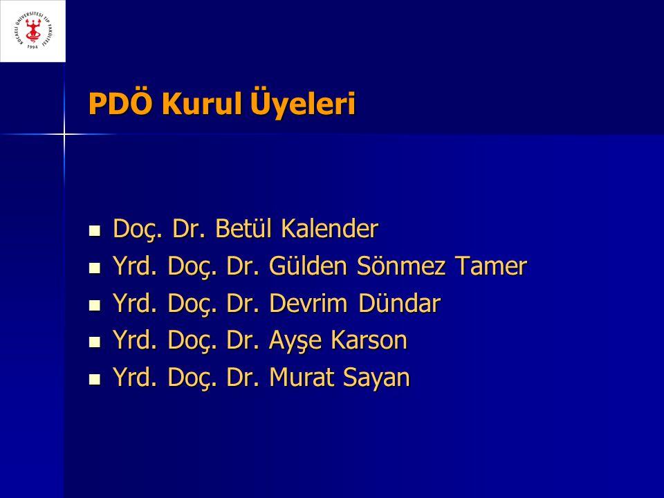 PDÖ Kurul Üyeleri Doç. Dr. Betül Kalender