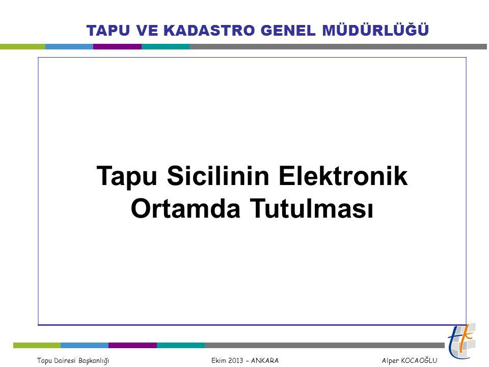 Tapu Sicilinin Elektronik Ortamda Tutulması