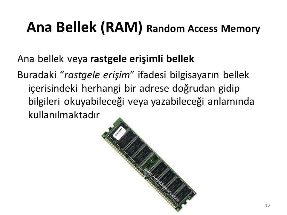 Ana Bellek (RAM) Random Access Memory
