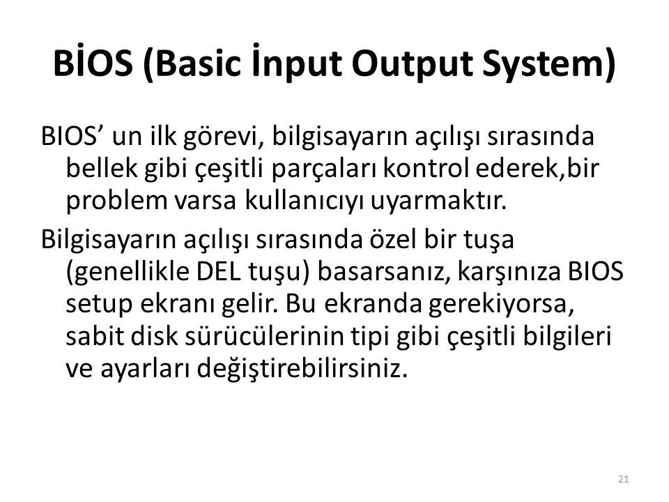 BİOS (Basic İnput Output System)